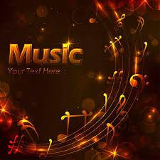 Free Golden Music Design Background Vectors