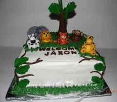 Coolest Baby Shower Jungle Cake