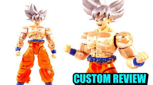 MASTERED ULTRA INSTINCT SON GOKU FIGURE RISE STANDARD CUSTOM REVIEW