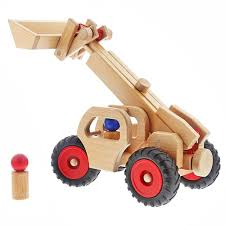 100 Fagus Trucks Wooden Telescopic Loader Honeybee Toys