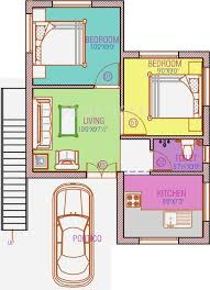 100 500 Sq Foot House Sq Ft 2 BHK Floor Plan Image Avalon Properties Breeze County