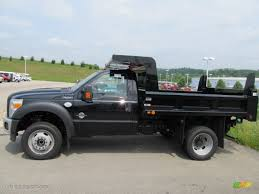 100 Ford F450 Dump Truck 2011 Black Super Duty XL Regular Cab 4x4 Chassis