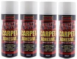 4 x carpet tile contact adhesive spray can heavy duty glue craft