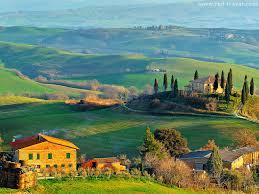 Tuscany Landscape Villa Vineyard Red Wine