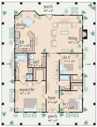 One Level House Floor Plans Colors Plan 8462jh Marvelous Wrap Around Porch Porch Southern And Wraps