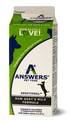 Answers Raw Frozen Goat's Milk | Half-Gallon