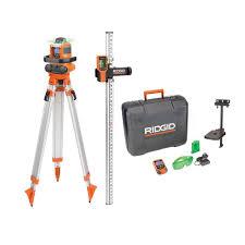 Home Depot Floor Leveler by Ridgid Green Auto Leveling Rotary Laser Level Kit Grl9202 The