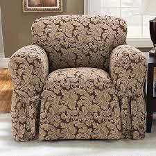 Sleeper Sofa Slipcovers Walmart by Sure Fit Scroll Brown Sofa Slipcover 6060