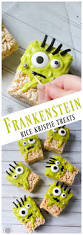 Rice Krispie Treats Halloween Theme by Frankenstein Rice Krispie Treats Recipe Momdot