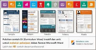 Desain CV Kreatif Contoh Download Link
