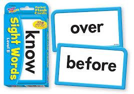 23028 Sight Words Level B Pocket Flash Cards Mb55ef Clipart