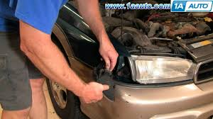 how to install replace front side parking light subaru legacy