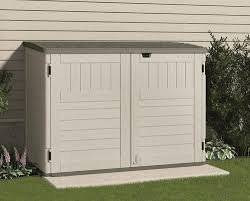 Vinyl Storage Sheds Menards by Suncast The Stow Away Horizontal Storage Unit At Menards