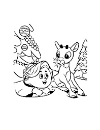 Rudolph And Hermey Coloring Page