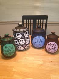 Nightmare Before Christmas Halloween Decorations Outdoor by Tim Burton Inspired Canisters I Made Nightmare Before Christmas