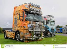 DAF Show Trucks With World History Themes Editorial Photo - Image Of ...