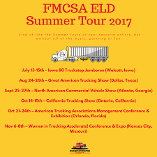 100 North American Trucking FMCSAs ELD Summer Tour Owner Operator Direct Commercial Truck