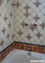 mexicantiles bathroom shower wall and tub with seville