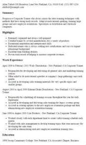 1 Corporate Trainer Resume Templates Try Them Now