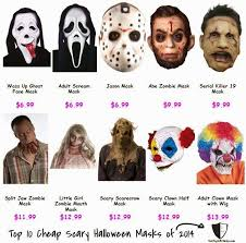 Scary Halloween Half Masks by Top 10 Cheap Scary Halloween Masks Of 2014 Starts From 5 Top