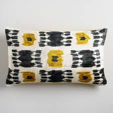 Red Decorative Lumbar Pillows by Oversized Chartreuse Ikat Velvet Lumbar Pillow World Market
