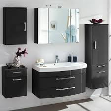 badezimmer komplett set rimao 100 hochglanz anthrazit waschplatz mit