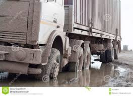 100 The Truck Got Stuck With A Muddy Rear Wheel Stock Photo Image Of Hole Mover