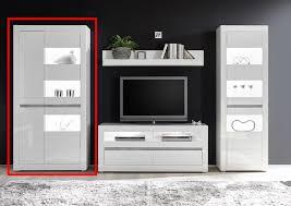 vitrinenschrank carat modern weiß 24 reduziert wohnzimmer