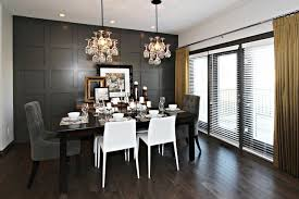Sabal Homes Amazing Gray And Yellow Dining Room With Dark Full Wall Wainscoting Silk