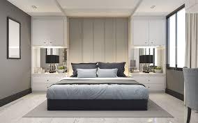 herunterladen hintergrundbild schlafzimmer graues interieur