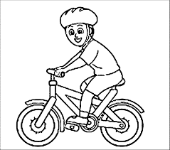Bike Colouring Page And Coloring Pages
