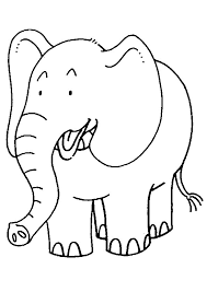 Kids Preschool Coloring Pages Elephant
