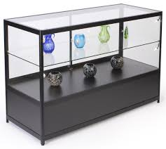 lighted glass display counter aluminum frame