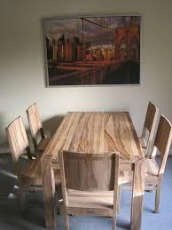 sheesham esszimmer tisch 6 stühle