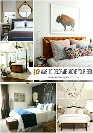 Bedroom Artwork Above Bed Ways To Decorate Your Wall Art