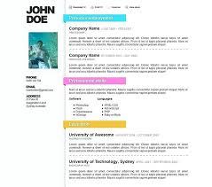 Microsoft Word Resume Template Free Download Packed With Cool Templates Best