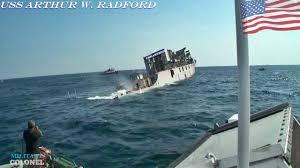 Uss America Sinking Photos by Goodbye End Of History Uss Arthur W Radford Sinking Youtube