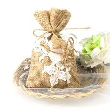 Lace Flower Favor Bags For Rustic Vintage Wedding Burlap And Cake Ideas
