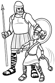 David And Goliath Coloring Page From Pinning With Purpose Old Testament Quiet Book
