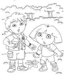 Coloring Pages Diego And Dora