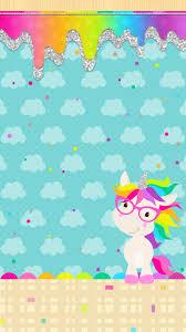 1242x2208 Unicorn Birthday Party Cute Wallpapers Iphone Rainbow Wallpaper