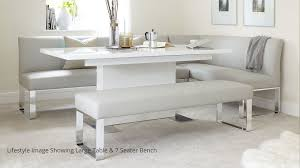 Attractive Bench Dining Table Pertaining To 5 Seater Left Hand Corner And Extending Furniture