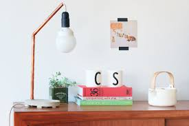 DIY Copper Concrete Lamp