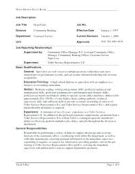 Resume panion Cover Letter For Bank Teller Skill Sample Career