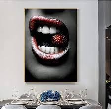 a d wandkunst poster und drucke rote mund lippen