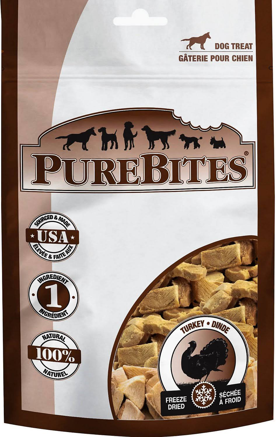 PureBites Freeze Dried Turkey Breast Dog Treat - 2.47oz