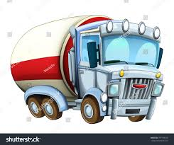 Cartoon Funny Looking Truck Illustration Children Stock Illustration ...