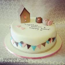 Love Birds New Home Cake With Handwritten Message