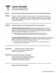 Sample Resume For Cna Position Examples Fresh