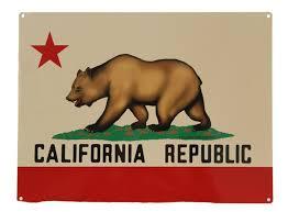 California Republic Bear Flag Vintage Metal Sign